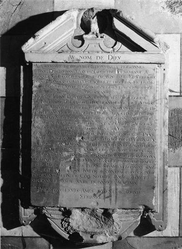 Inscription de fondation de messes par S.Percheron, pierre, 1619