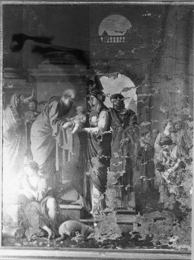 Tableau : La Présentation au temple, huile sur toile par Laurent de La Hyre, 1648