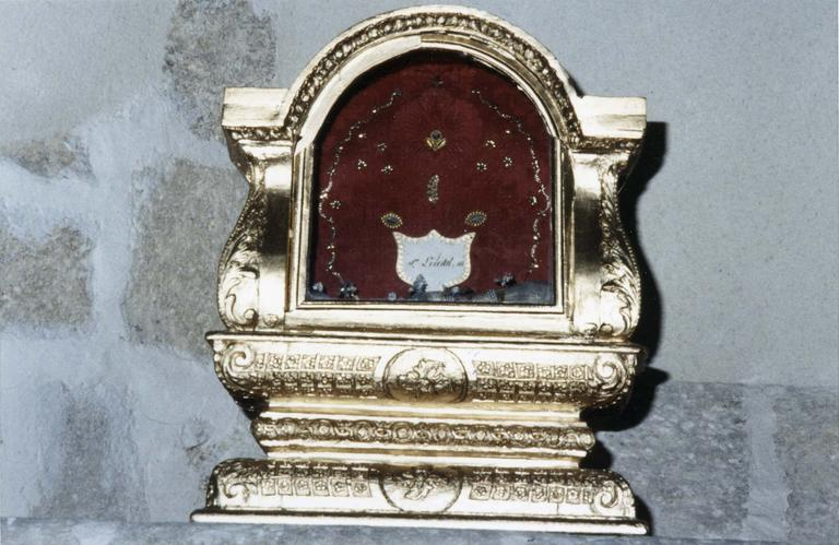 Châsse de saint Libéral, bois doré, 1731