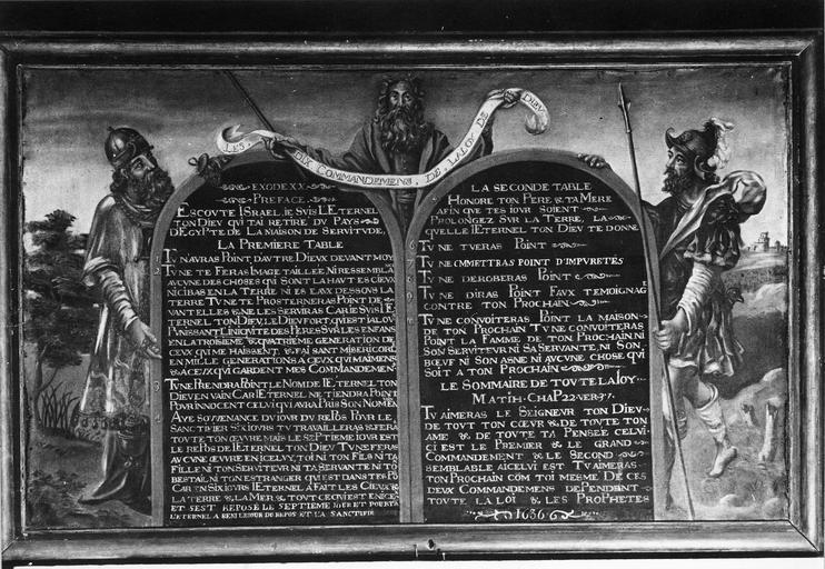 Tableau : Décalogue, huile sur toile, 1636