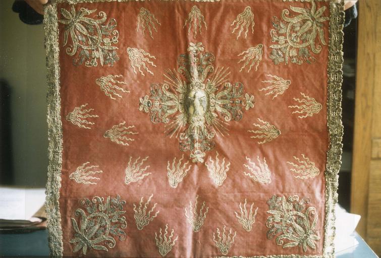 Voile de calice, soie et fil d'or, 17e siècle