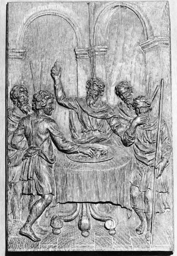 Panneau de bois sculpté, 18e siècle, La Pâque