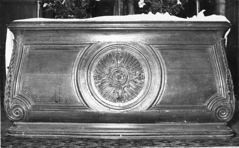 Banc d'oeuvre, bois sculpté, 18e siècle
