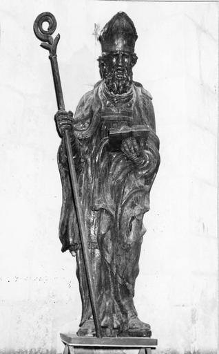 Statue : évêque, bois, 18e siècle
