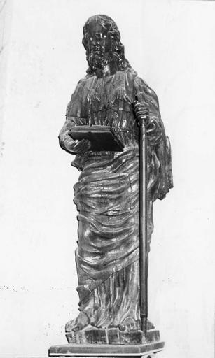 Statue : saint Jean, bois, 18e siècle