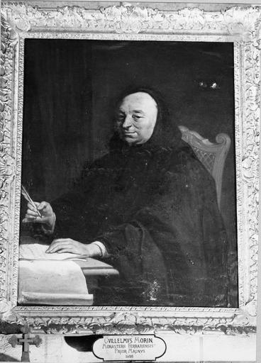 Tableau : portrait de Dom René Laneau, huile sur toile, 18e siècle, copie d'un tableau de Restout du musée des Beaux-Arts d' Orléans