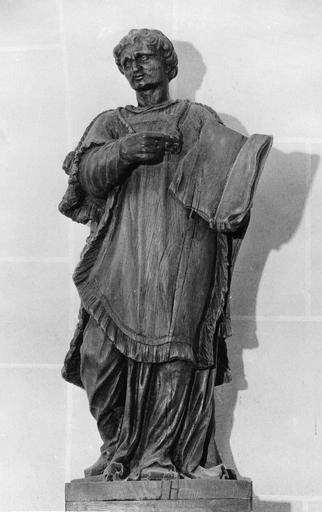 Statue : saint Baudèle, bois, 18e siècle