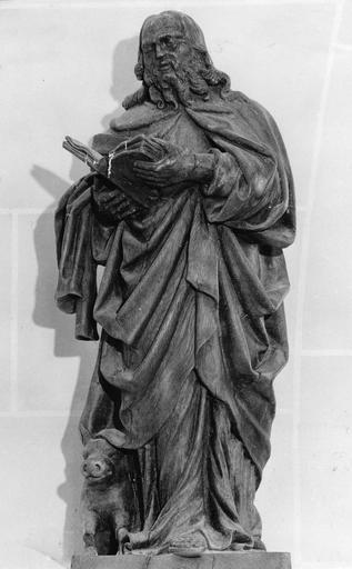 Statue : saint Antoine, bois, 18e siècle