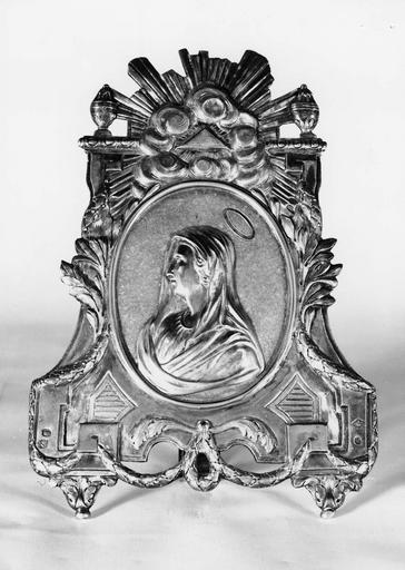Baiser de paix, décoré du profil de la Vierge par Carlier, vers 1816
