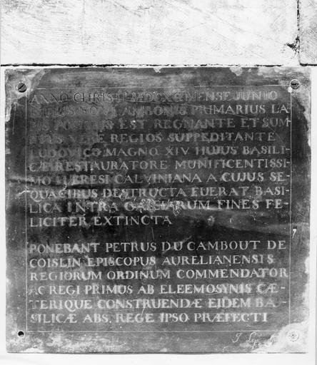 Épitaphe de Charles Le Pelletier