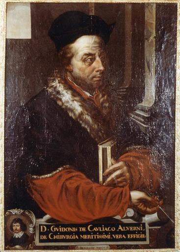 Tableau, cadre : Portrait de Guy de Chauliac