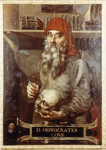 Tableau, cadre : Portrait d'Hippocrate