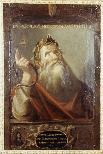 Tableau, cadre : Portrait d'Esculape