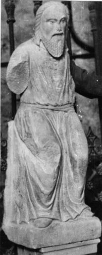 Statue : Christ en majesté, pierre, 16e siècle
