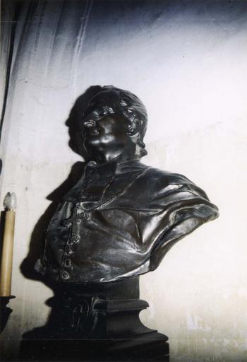 buste de Monseigneur Félix Dupanloup, bronze, par Henri Chapu, daté et signé, 1888