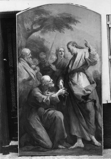 Tableaux : Saint Pierre recevant les Clés, huile sur toile par Jean Restout, 1738