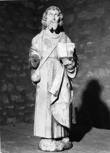 Statue : saint Jacques, bois, 17e siècle