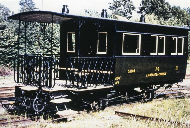 Voiture de voyageurs (voiture-salon) AC2F n° 1, réseau P.O. Corrèze, 1904