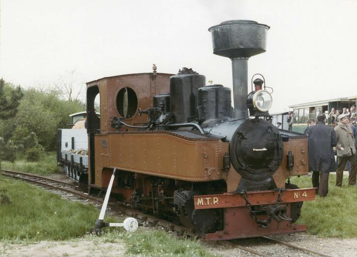 Locomotive à vapeur, voie inférieure à 1m, 040 T MTP 4, 1917