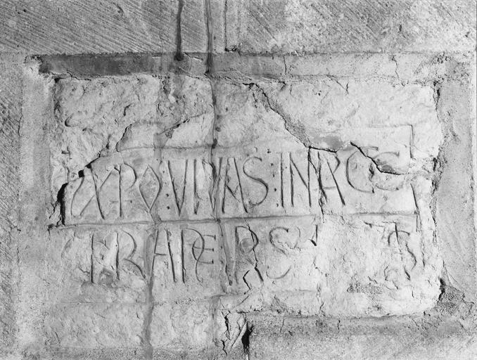 plaque funéraire de l'abbé Vrain (ou Véran)