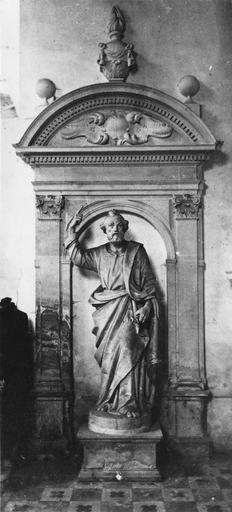 2 statues : saint Pierre, saint Marc