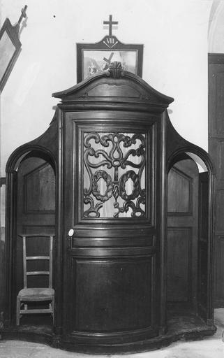 Confessionnal, bois, fin du 18e siècle