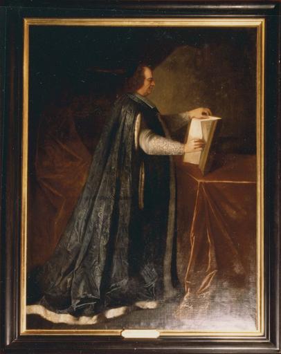 Tableau : Henri-Charles de Cambout, évêque de Metz, duc de Coislin, huile sur toile, 17e-18e siècle