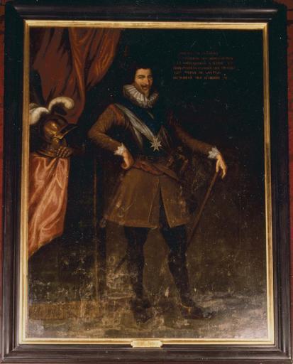 Tableau : Philippe de Béthune, comte de Selles, huile sur toile, 17e-18e siècle