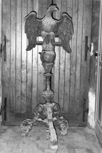 Aigle-lutrin, bois sculpté, fin du 18e siècle ou début du 19e siècle