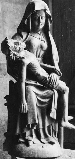Groupe sculpté : Vierge de Pitié, bois, fin du 15e ou début du 16e siècle