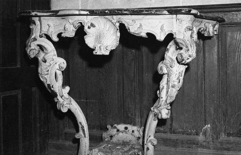 Crédence, bois sculpté et marbre, début du 18e siècle