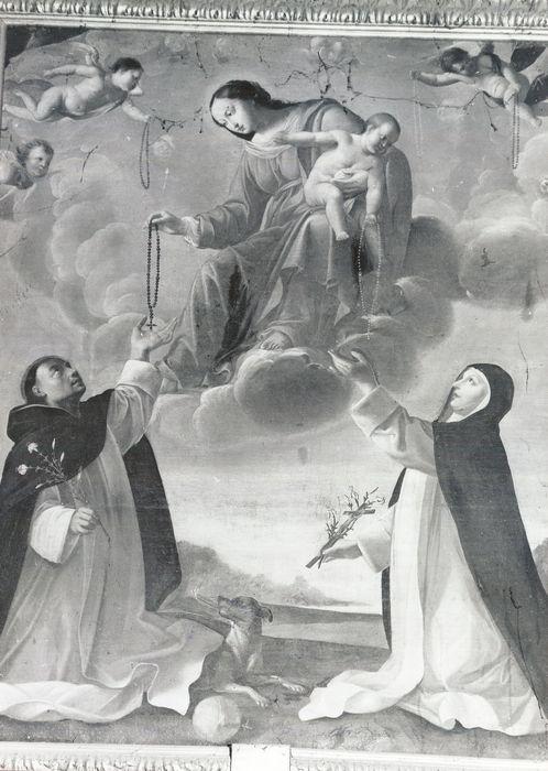Tableau : L'Institution du Rosaire