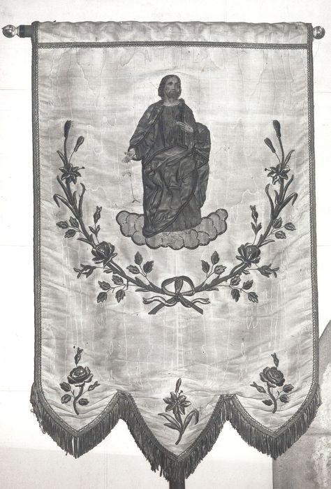 Bannière du Sacré-Coeur et son revers