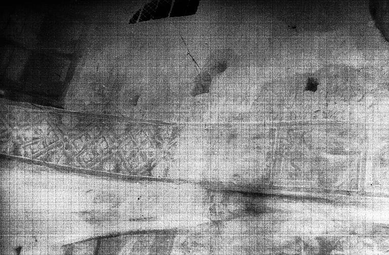 Peintures monumentales de l'abside : le Massacre des innocents, la Fuite en Egypte, les évangélistes archevêques, histoire d'Adam et Eve