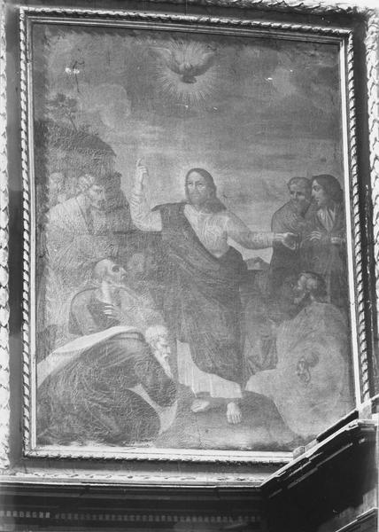 2 tableaux : Jésus et les apôtres, l'Adoration des Mages