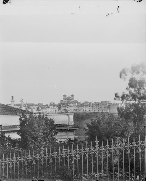 Vue de la ville et des tours de la cathédrale