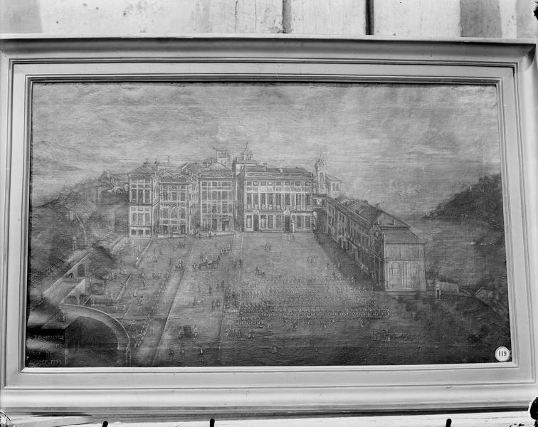 Tableau: Perspective de la place d'armes de Monaco, 1732
