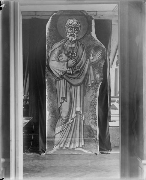 Choeur, mosaïque de la coupole, détail, saint Pierre