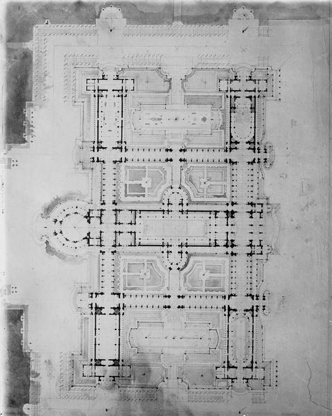 Plan d'un château