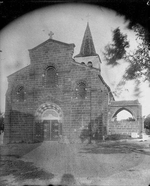 Façade ouest, état après restauration