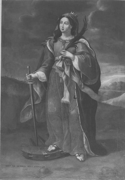 tableau : sainte Catherine, vue générale