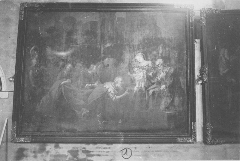 tableau, cadre : l'Adoration des Mages, vue générale