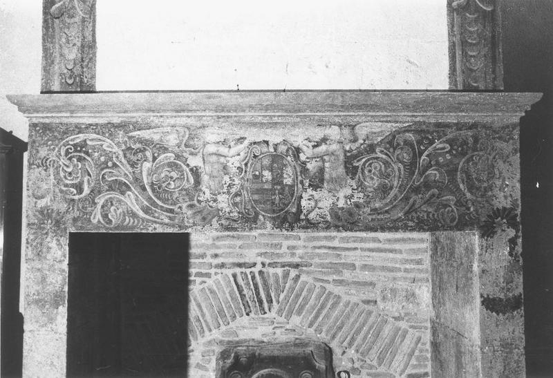 peinture monumentale, cheminée, détail
