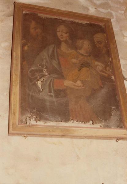 Tableau : la Vierge et l'Enfant adorés par les bergers