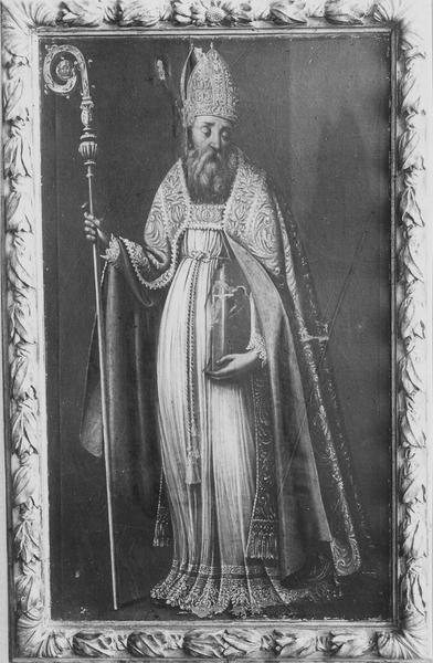 Tableau, cadre : saint Blaise