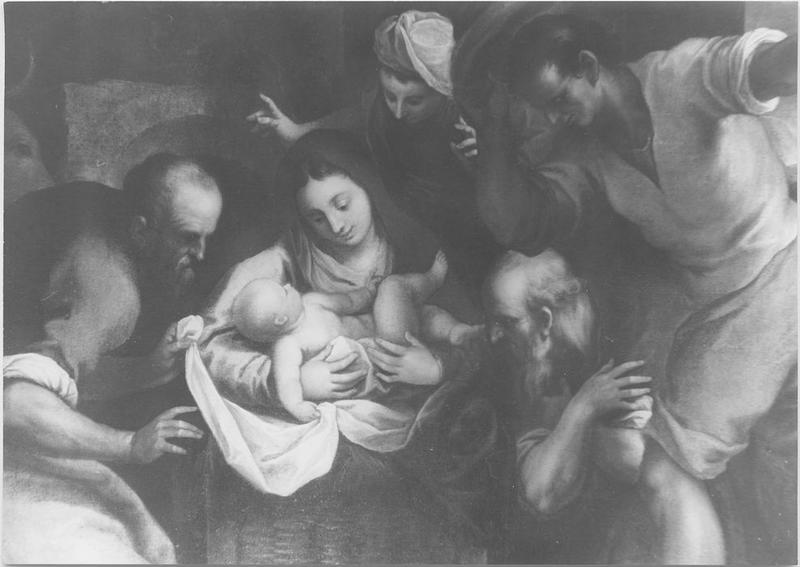 Tableau: Adoration des bergers (l'), vue partielle