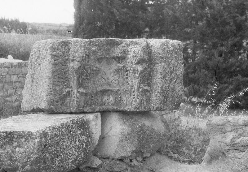 Chapiteau antique, fragment