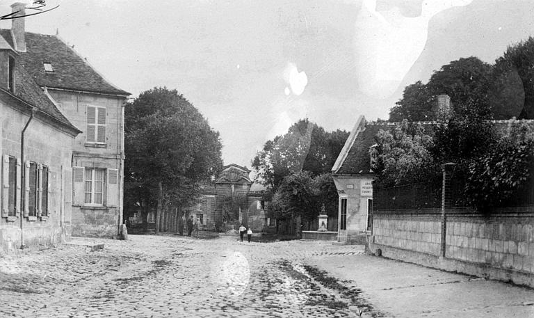 Rue du château, avant la guerre