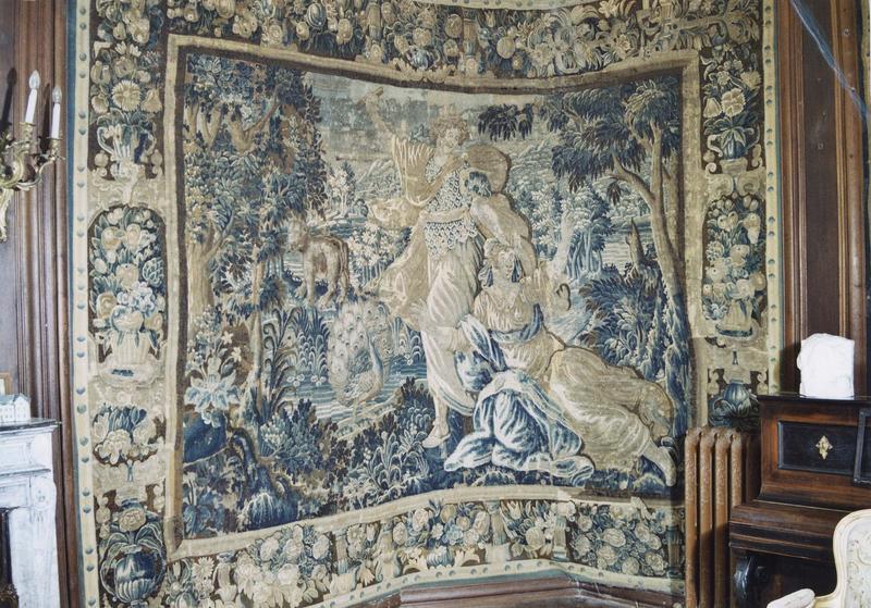 Pièce murale : Junon et Callisto ou Orphée et Eurydice, vue générale