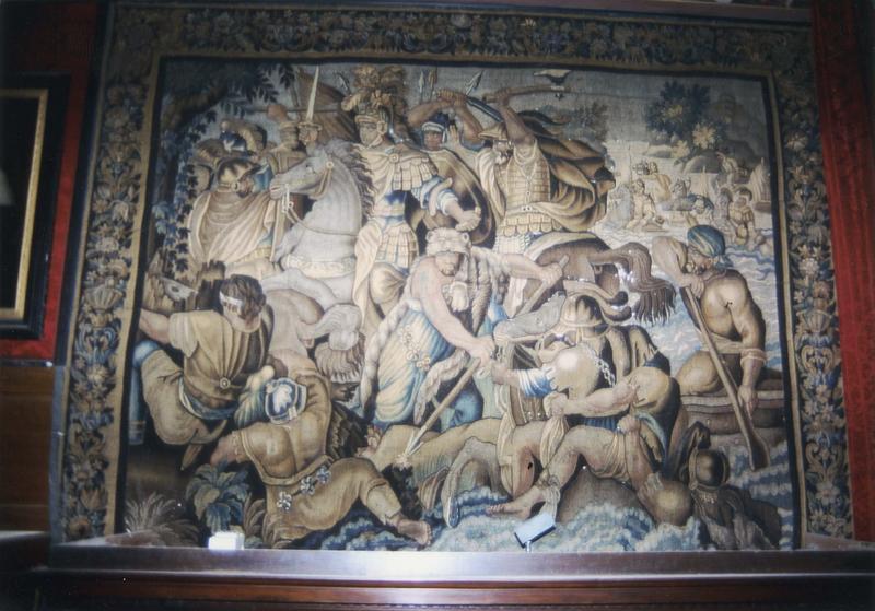 Pièce murale de la tenture des batailles d'Alexandre : Le passage du Granique
